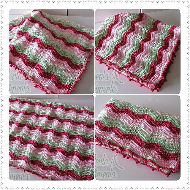ana.moraissoares crochet ripple blanket
