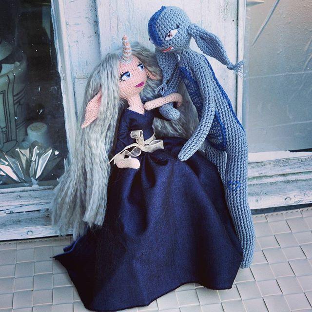 beauty and beast crochet art dolls faurik
