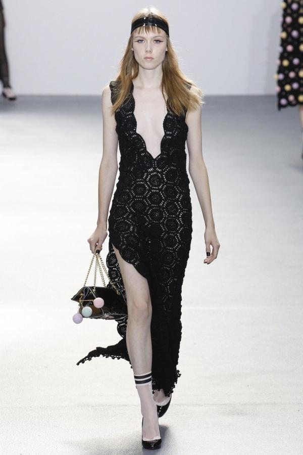 black crochet dress sibling