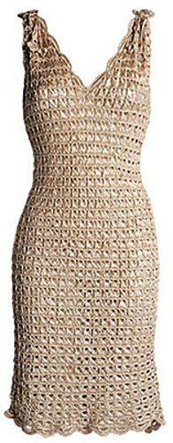 broomstick lace crochet dress