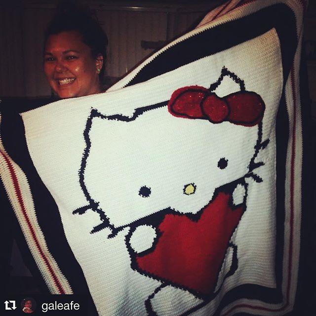 brutus_ob crochet hello kitty blanket
