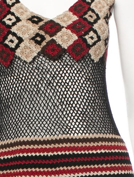 Burberry crochet dress via Outstanding Crochet