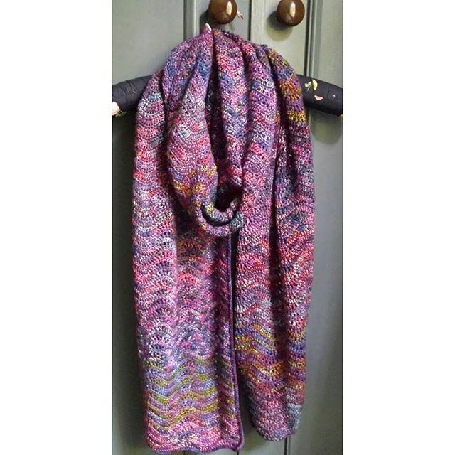 buttermilkcandy crochet ripple scarf