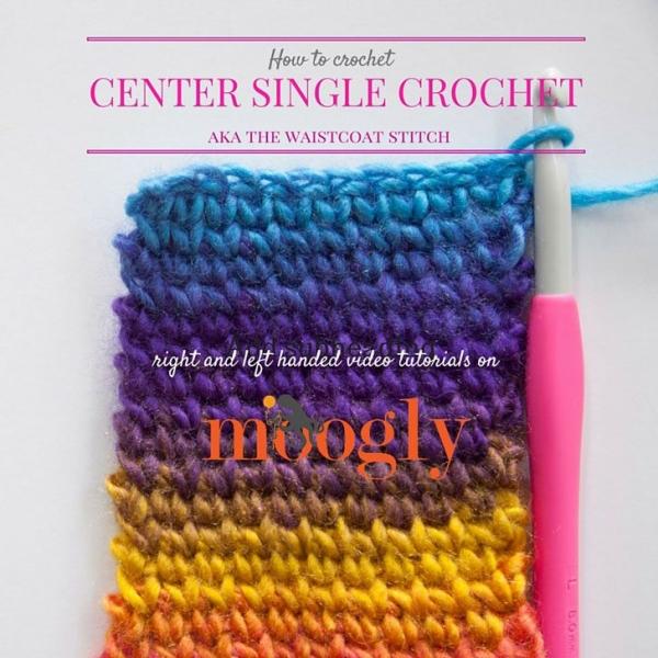 center single crochet stitch