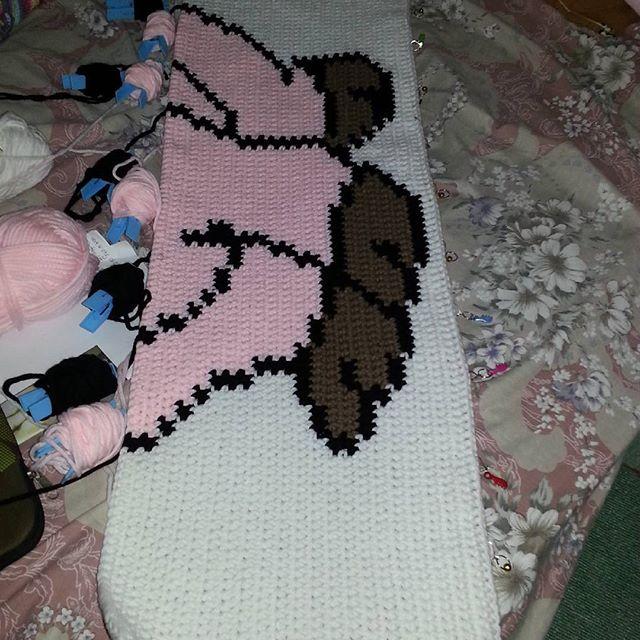 cheezmac101 crochet pig blanket
