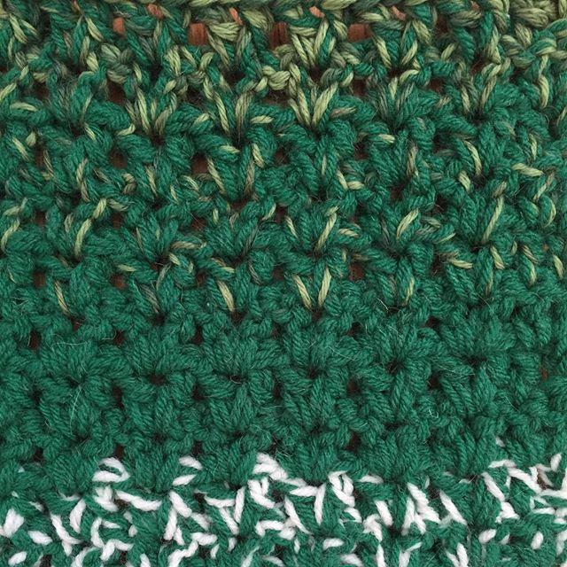 chunky vstitch crochet green blanket