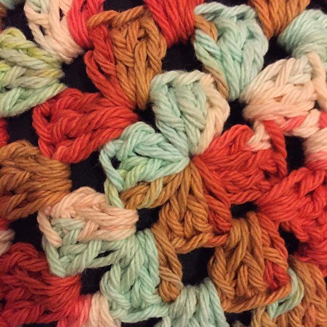 cotton crochet granny squares