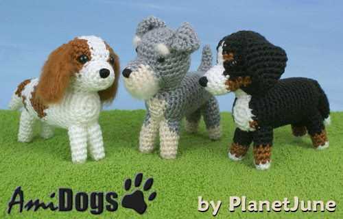 crochet ami dogs pattern for sale