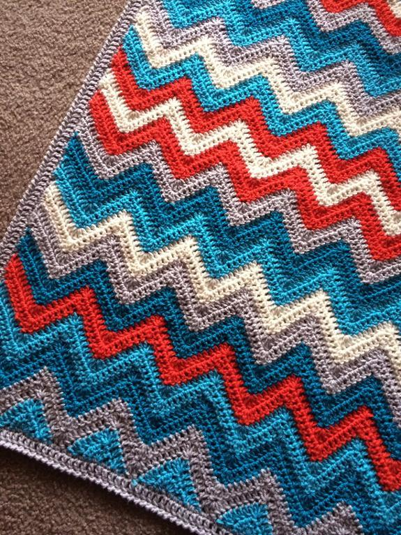 crochet blanket pattern chevrons