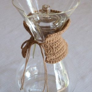 crochet coffee maker cozy