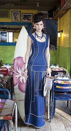 crochet column dress
