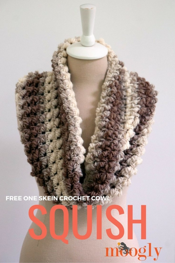 Crochet Patterns Cowl : One skein cowl free crochet pattern featuring a Split Bullion Crochet ...