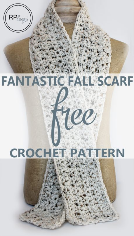 crochet fall scarf free pattern