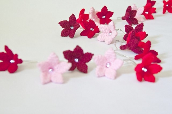 crochet flower fairy light pattern