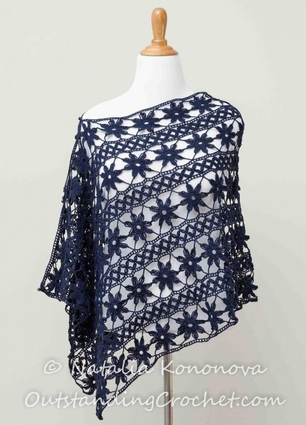 crochet flower wrap pattern