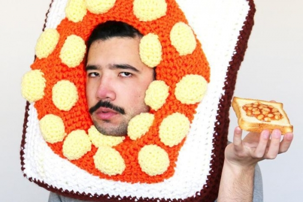 crochet food hat