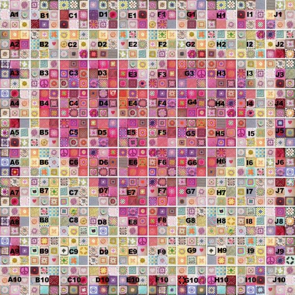 crochet heart art digital