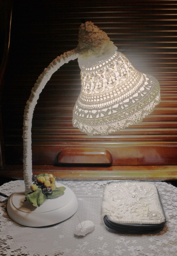 crochet lampshade tutorial