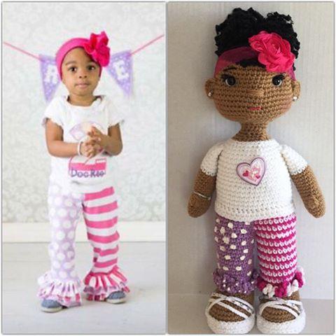 crochet lookalike doll by offdhookcreations
