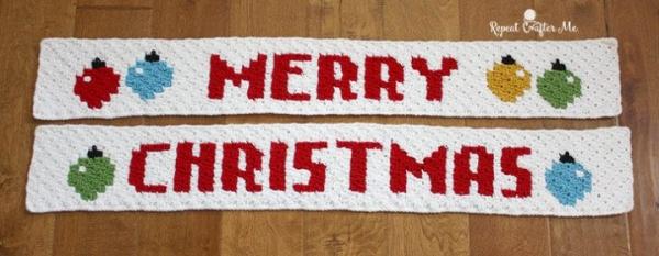 crochet merry christmas pattern