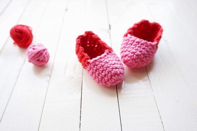 crochet newborn slippers free pattern