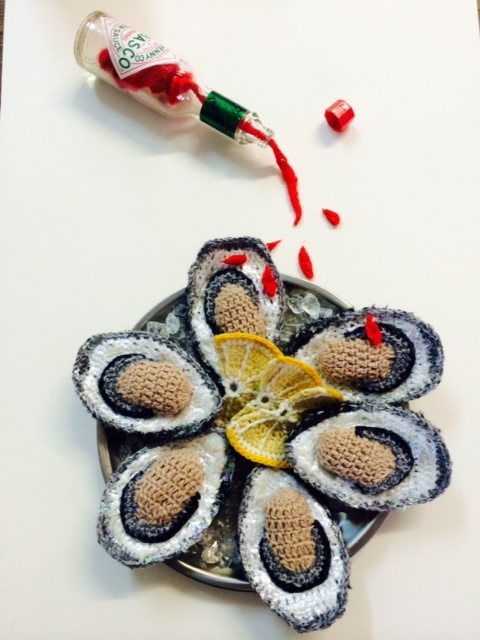 crochet oysters by kate jenkins