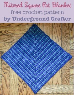 crochet pet blanket pattern