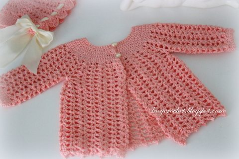 gehaakte vintage patroon kindje trui