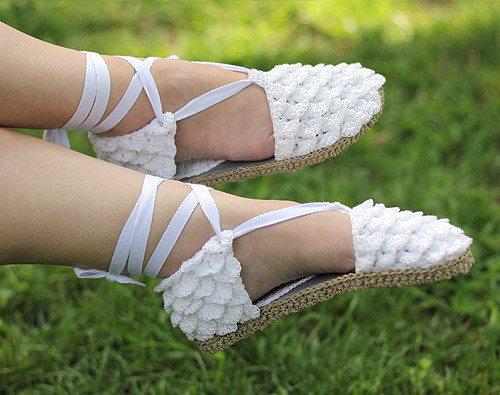 krokodil steek gehaakte schoenen
