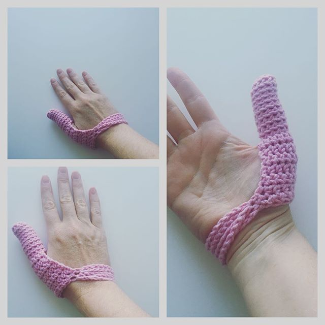 cuddlebugkids crochet custom thumb cover