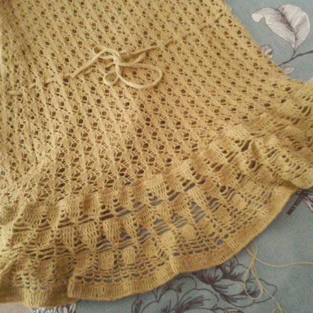 dieoranje_skaap crochet upcycling in yellow