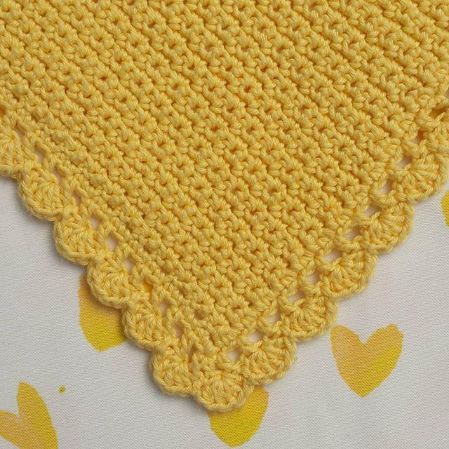 eclecticrochet crochet yellow blanket