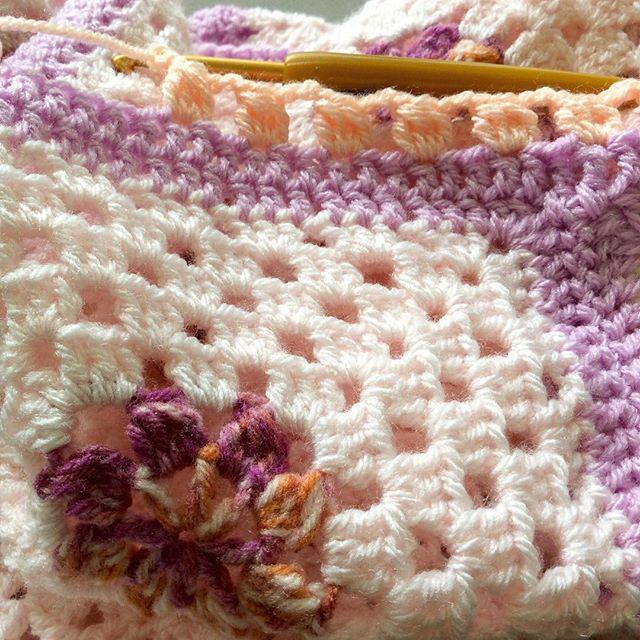 elisabethandree crochet blanket detail