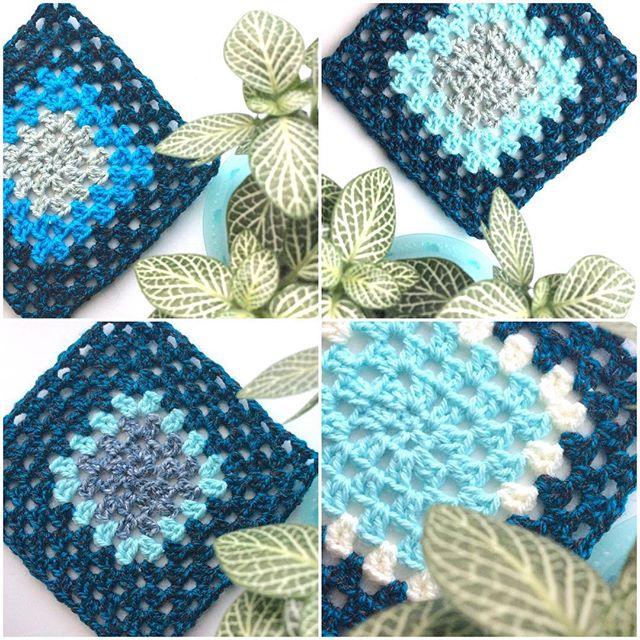 elisabethandree crochet blue squares