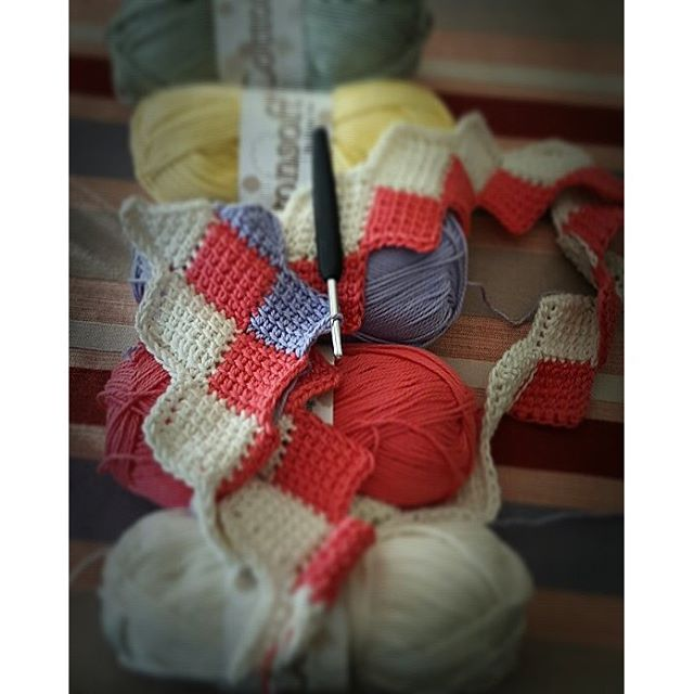 elzavan912 crochet tunisian entrelac