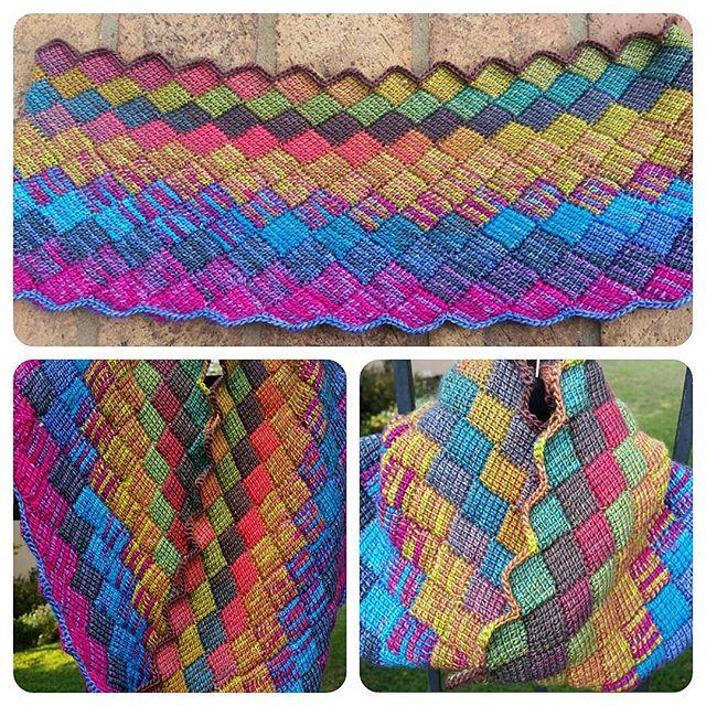 elzavan912 entrelac crochet tunisian cowl