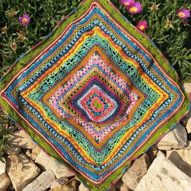 estebeukes crochet colorful blanket
