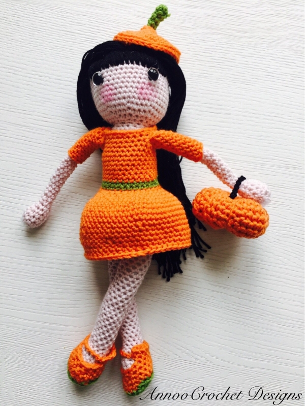 fall princess crochet doll free pattern