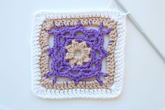 flower square crochet free pattern