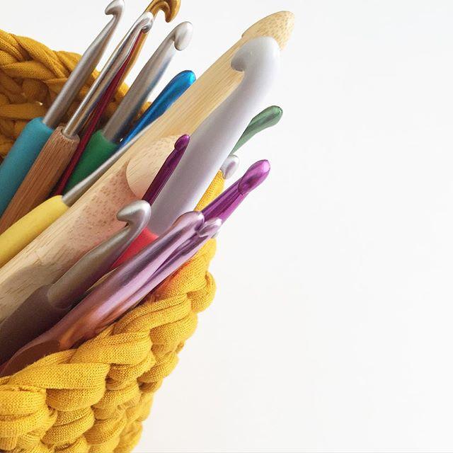 forever__autumn__ crochet basket and hooks