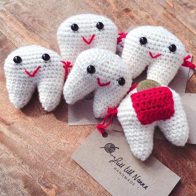 fulltiltnanna crochet tooth fairy pillows