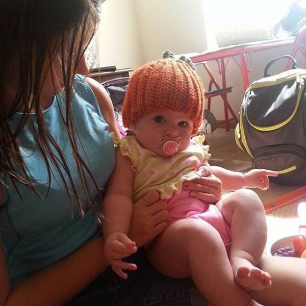 gigididthis crochet pumpkin hat