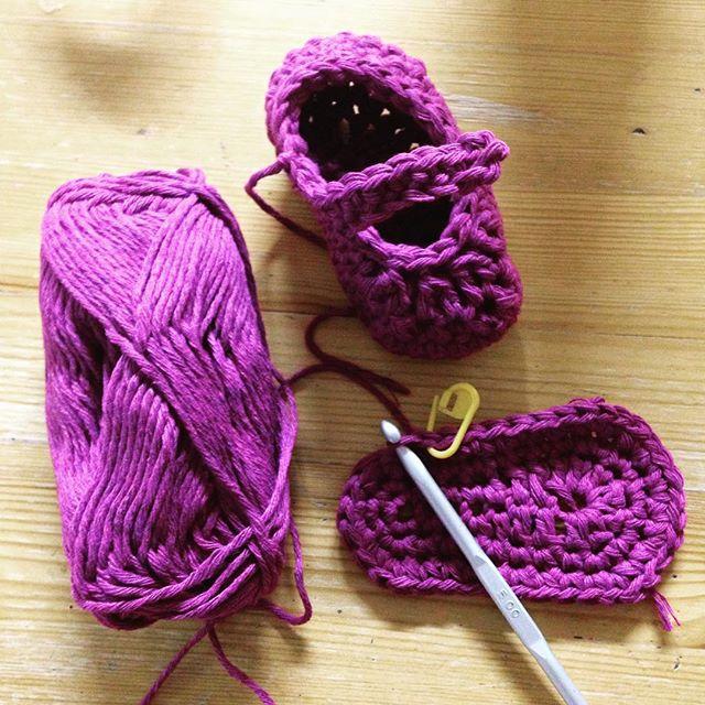 gooseberryfool crochet slipper