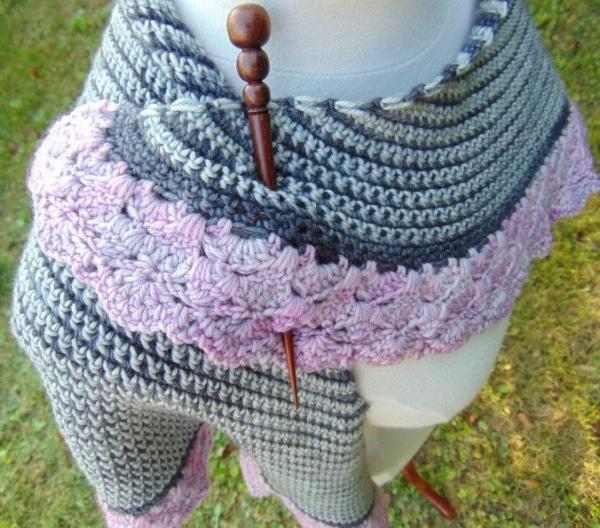 granite and quartz crochet shawl pattern