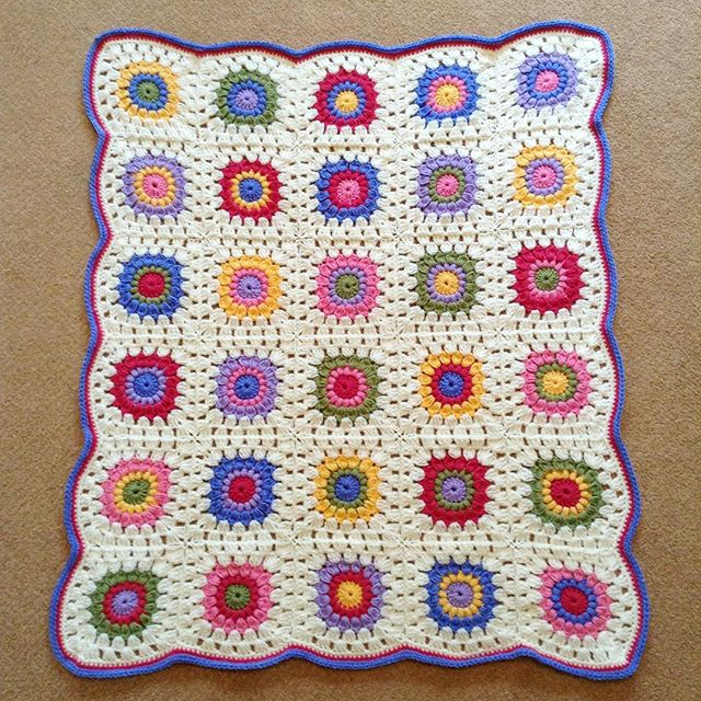 hooked__on__hooky crochet colorful blanket squares