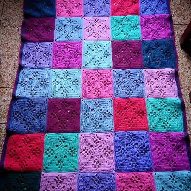 hookychia crochet victorian lattice square