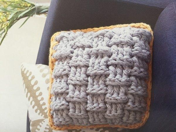 big hook crochet pillow