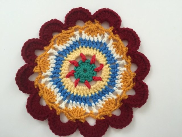 Ayse Crochet Contribution to Mandalas for Marinke