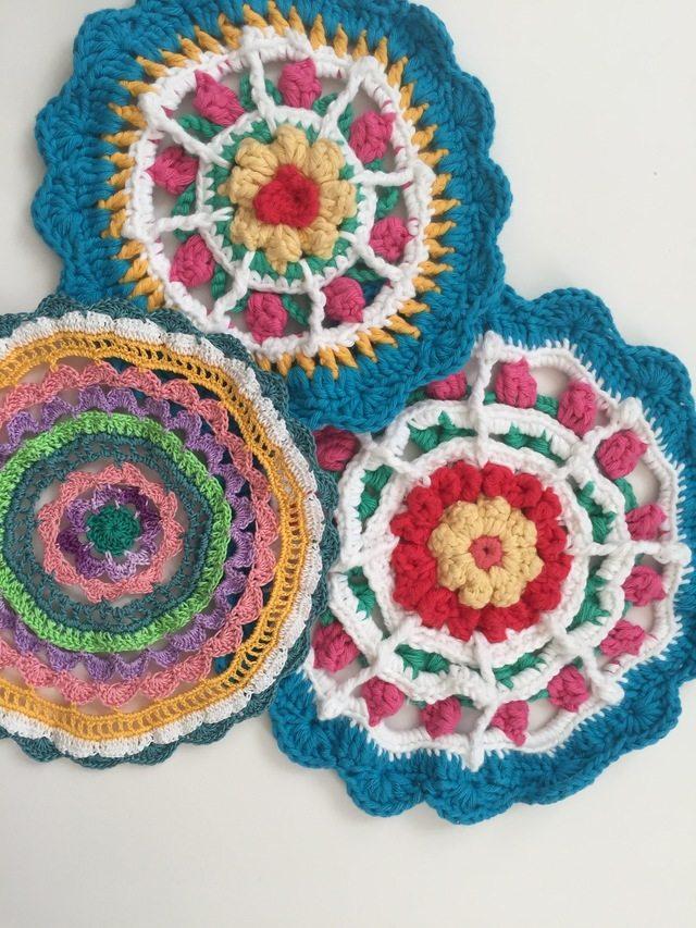 Threadwinder's Crochet Mandalas For Marinke + Mandala Crochet Pattern