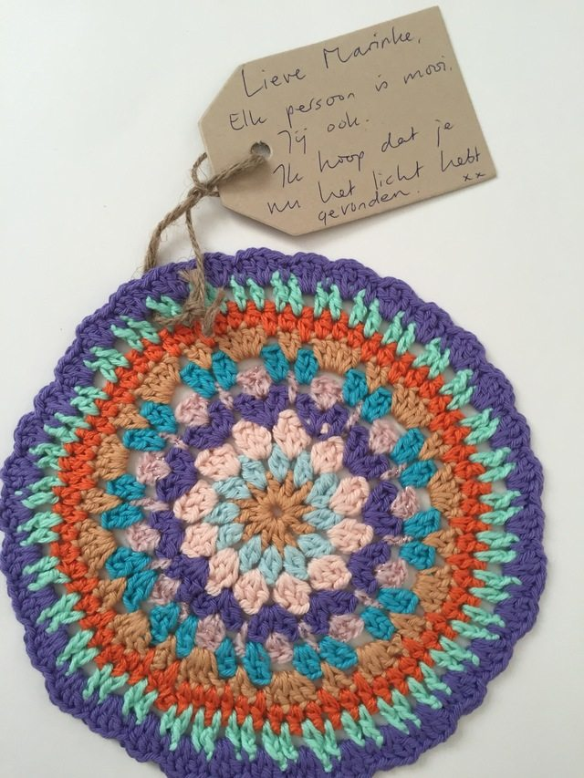 Corine's Crochet Contribution to Mandalas for Marinke